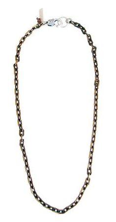 Mens brass chain necklace - Maiden-Art