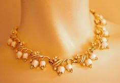 1955 Coro Lily of the Valley Necklace, via Etsy.