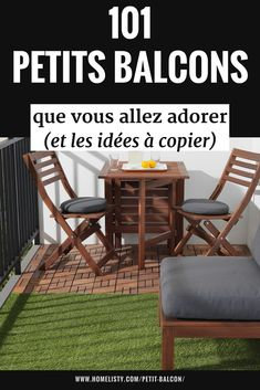 Petit balcon ? Découvrez + de 101 idées et astuces pour décorer et aménager de manière fonctionnelle et agréable même le plus petit des balcons. Des conseils pratiques pour profiter au maximum de votre petit balcon.