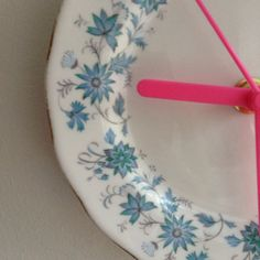 Blue and pink retro Vintage China Plate Wall by LaviniasTeaParty, £25.00