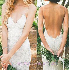 Robes de mariée Sexy Backless très basse ouverte dos dentelle mariage robe mariée Halter plage chaude mariage robe romantique pays