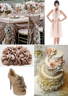 Ruffles in Wedding Decor & Fashion