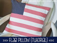 Sewing Tutorials sew this beautiful flag pillow.Display it proudly.Make one for your vehicle also.