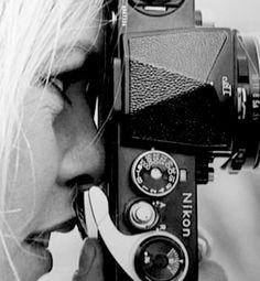 Brigitte Bardot and Nikon F by Jacques Héripert. Photography Camera, Photography Backdrops, Digital Photography, Photography Tips, Brigitte Bardot, Bridget Bardot, Photographer Self Portrait, Photographer Headshots, Camera Photos