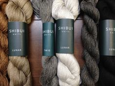 """Three """"Crete"""" colorways, from left to right: Shibui Twig in """"Trail"""" and Lunar in """"Caffeine;"""" Twig in """"Mineral"""" and Lunar in """"Ash;"""" Twig in """"Tar"""" and Lunar in """"Abyss."""""""