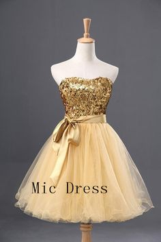 Pretty gold dress <3
