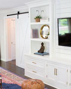 "CRD on Instagram: ""Barns Doors & Built-ins can change a room #interiordesign :…"""