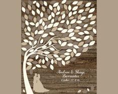 Wedding Leaf Guest Book Tree Print Wedding Signature Guest