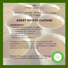 Sweet Potato Custard - This recipe is perfect for any occasion — you can have it for breakfast, as a snack, or of course, as dessert!