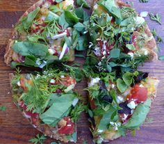 Wild Taco Pizza with Goat Cheese and Herbs