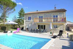 Villa Le Malcap in Saint-Victor-de-Malcap huren bij Belvilla Villa With Private Pool, Luxury Villa, Decks, Swimming Pools, Saints, Mansions, House Styles, Travel, Products