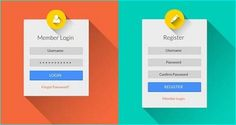 22 Free Login and Register Form Template for Designer