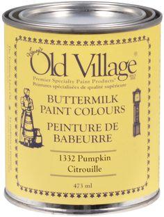 La Peinture de babeurre Old Village est une peinture intérieur/extérieur prête à l'emploi qui procure un fini mat durable une fois sèche, et peut être recouverte de vernis à base d'eau, d'huile ou de cire, de la même façon que les peintures de lait et de