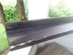 Custom order floating distressed...stained shelving from Rustic Treasures Decor on etsy.com