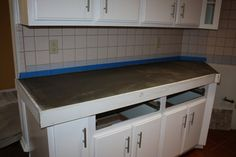 Remodelaholic | Quick Install of Concrete Countertops! Kitchen Remodel!