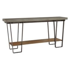 Variety is always an attractive feature, and the HomeFare Sofa Table with Concrete Top presents a rich composition of mixed materials. This sofa. Concrete Slab, Eclectic Design, Wood Dust, Wood Shelves, Home Furnishings, Entryway Tables, Sofa, Ds, Furniture