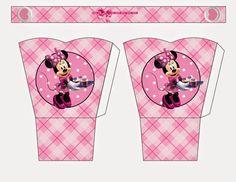 Minnie in Pink: Free Printable Basket.