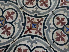 Early 20th Century, French carreaux de ciment encaustic floor tiles.