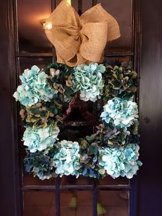 A personal favorite from my Etsy shop https://www.etsy.com/listing/231900273/hydrangea-wreath