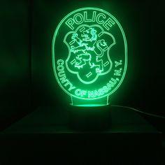 Nassau County Police Light - Thin Blue Line Gifts For Cops, Nypd Blue, Police Lights, Police Lives Matter, Custom Badges, Lighting Logo, Suffolk County, Nassau County, Pop Display