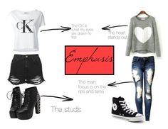 """Emphasis"" by wheelkair on Polyvore featuring Calvin Klein Jeans, Topshop and Converse"