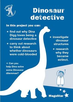 Dinosuar Detectives MegaStar Project - A fantastic set or resources that sees your students take the role of dinosaur detectives