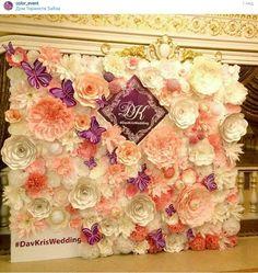 Paper flowers wedding backdrop