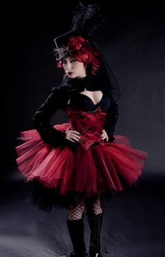 The+Ring+Master+huge+poofy+red+and+black+adult+tutu+XLarge+Plus