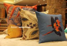 Variedade de estilos, tamanhos e cores.  Os produtos na Kyowa são assim, para qualquer imaginação. http://www.tapetesonline.com/almofadas