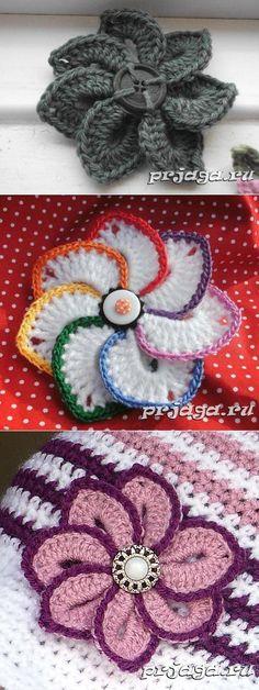 Knitted flower hook // Ольга Толстова