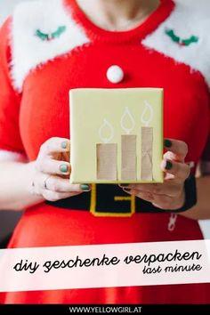 Nur noch ein paar mal schlafen und das Christkind, der Weihnachtsmann, Santa Claus oder der Gwiazdor kommen! Diese letzten Geschenke müssen noch gekauft, gebastelt oder abgeholt werden und zu guter Letzt verpackt werden bevor sie unter dem Weihnachtsbaum landen. In diesem Beitrag packe ich euch meine letzten Anleitungen zum Thema Geschenke verpacke ein. Ich hoffe die last minute DIYs sind euch eine so große Hilfe wie mir!