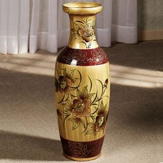 Asian Blooms Floor Vase. Item I515-001. Price: $59.75. It is just a beautiful vase.