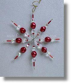 Christmas Star Beaded Ornament
