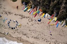 Malibu, CA. Gray Malin photographs beaches from above which he shoots from a doorless helicopter. Fantastic.