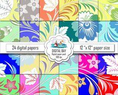FLORAL DIGITAL PAPERS Instant download Scrapbook от DigitalBay