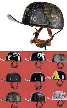 non dot motorcycle helmet in novelty style like a baseball hat Dot Motorcycle Helmets, Motorcycle Helmet Accessories, Bicycle Helmet, Riding Helmets, Bike, Novelty Helmets, Open Face Helmets, Baseball Cap, Trendy Fashion