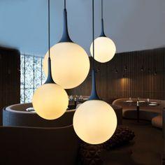 melkachtig wit glazen bol hanglamp bar lampen persoonlijkheid cirkel hanger licht