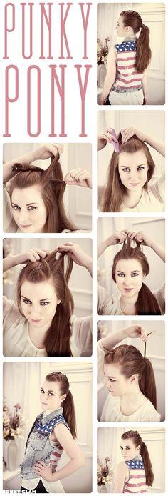 types-hair: Half French Braid Ponytail