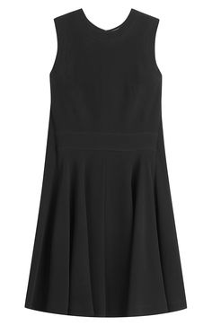 Crepe Mini Dress with Cape Back detail 0
