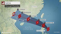 El potente tifón Nida amenaza a China - http://www.meteorologiaenred.com/el-potente-tifon-nida-amenaza-a-china.html