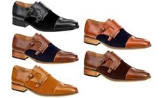 sports shoes 7ebf6 f2175 Groupon - Signature Men s Two-Tone Monk-Strap Dress Shoes. Groupon deal  price