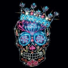 Bling queenskull with crown
