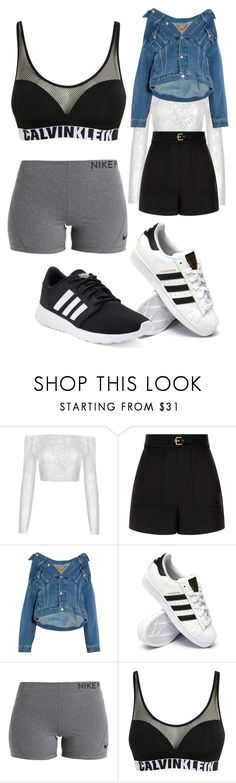 """Untitled #9687"" by lover5sos ❤ liked on Polyvore featuring RED Valentino, Balenciaga, adidas, NIKE and Calvin Klein"