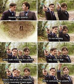 We're confusing the polarity. XD  I luuuvvvvv eeeeeeeet! #Whovian #fandoms