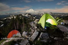 The Perfect Campsite (@ Mt Shuksan, Mt Baker can be seen in the distance), by Andrew Holman via 500px