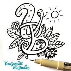 Day 30 of #365doodleswithjohannafritz: Letters. Me and my darling's initials.  #sketchbook #doodle #dailysketch #instagallive #illustratorsofinstagram #letters by veraschmidtillustration