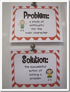Problem......Solution Student Teaching, Teaching Tools, Teaching Resources, Teaching Ideas, 5th Grade Reading, Kindergarten Reading, Teaching Reading, Writing Activities, Writing Ideas
