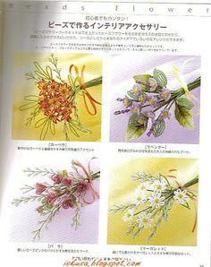 Puntadas de Mary: flores con chaquira.......