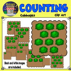Move your students from concrete to pictorial counting concepts using these cute pictures of cabbages. Black and white images are included. All images are provided in .png format at 300 dpi for clear, crisp images. The following numbers are represented:0, 1, 2, 3, 4, 5, 6, 7, 8, 9 and 10***************************************************************************You might also like:Lifetime Access Bundle, where you will have immediate, full lifetime access to all the clip art in my TpT…