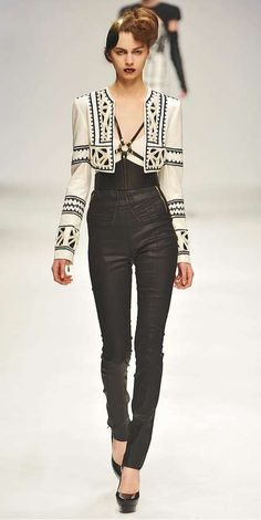 Jailhouse Tribal Fashion - The Sass & Bide Autumn 2010 Collection Rocks Black & White Right (GALLERY)